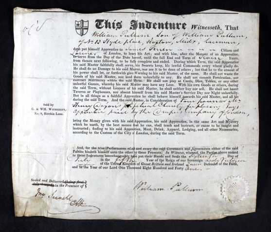 William Pullum Indenture